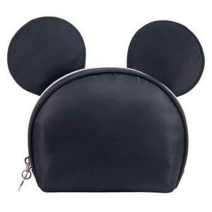Disney Mickey Mouse Vintage Black Makeup Bag NWT